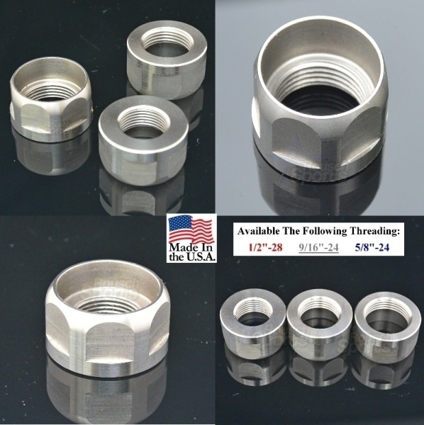 "Go Nuts - Jam Nut Stainless Steel 1/2""-28 9/16""-24 5/8""-24 Best Wholesale Discount Prices AR15 M16 M4 Austin Texas USA"