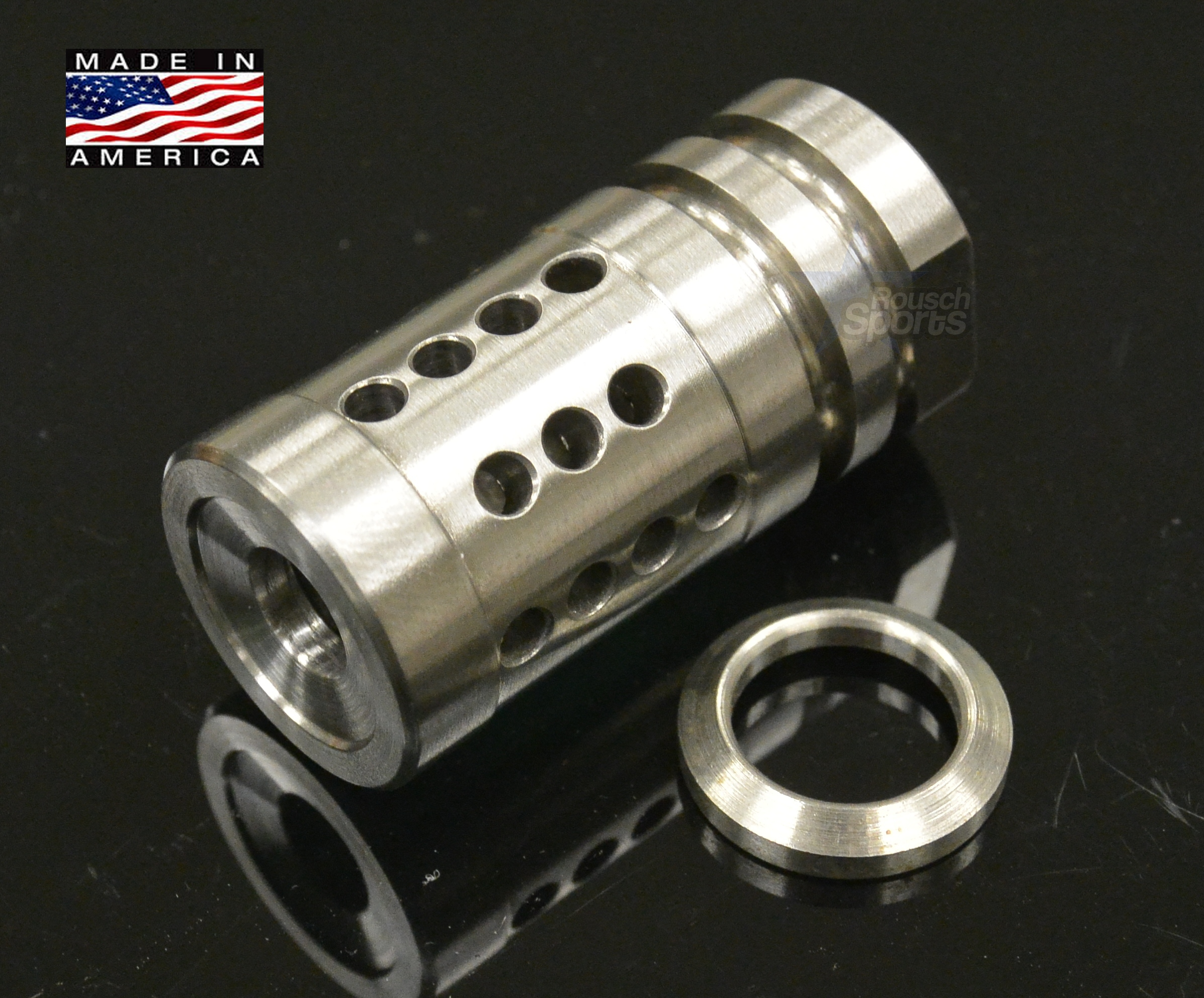 FXH-C2 Shorty Stainless Steel Muzzle Brake Compensator A2 Style 6.5 Grendel M16 M4 AR15 Austin Texas Best Discount Wholesale Price Accessories RIfle Pistol Handgun Long Gun