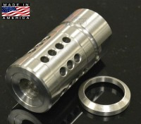 FXC-2 Shorty Stainless Steel Muzzle Brake Compensator A2 Style Austin Texas Ar15 ar 15 parts Wholesale Discount Prices 1a