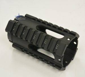4 Inch Oval Free Float Quad Rail Handguard Forend Pistol Length Austin Texas AR15 AR15 M16 M4 Parts and Accessories Best Discount Wholesale Prices Rousch Sports 1