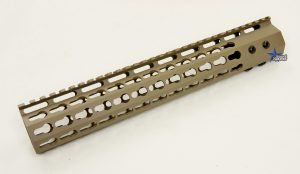 FDE ULS V7B Keymod Free Float HandGuard Forend 12 Inch AR 15 AR 10 Ambidextrous Speed Safety .223 5.56 AR 15 M4 M16 Best Discount Wholesale AR Parts and Accessories Austin Texas USA