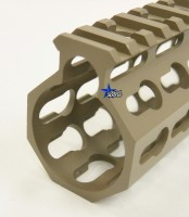 FDE ULS V7B Keymod Free Float HandGuard Forend 12 Inch AR 15 AR 10 Ambidextrous Speed Safety .223 5.56 AR 15 M4 M16 Best Discount Wholesale AR Parts and Accessories Austin Texas USA 8