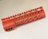 7 Inch Red Anodized Keymod Free Float HandGuard Forend with Stars RED Anodized AR 15 M16 M4 Best Austin Discount AR Parts and accessories Austin Texas Build your custom AR today 2