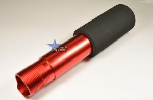 Pistol Buffer Tube Receiver Extension Anodized RED Mil Spec .223 5.56 .308 RED AR 15 M4 M16 Best Discount Wholesale AR Parts and Accessories Austin Texas