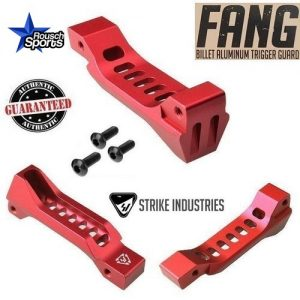 Strike Industries FANG Billet Aluminum Trigger Guard Skeletonized RED .223 5.56 AR 15 M4 M16 Best Discount Wholesale AR Parts and Accessories Austin Texas