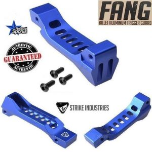 Strike Industries FANG Billet Aluminum Trigger Guard Skeletonized Blue .223 5.56 .308 AR 15 M4 M16 Best Discount Wholesale AR Parts and Accessories Austin Texas