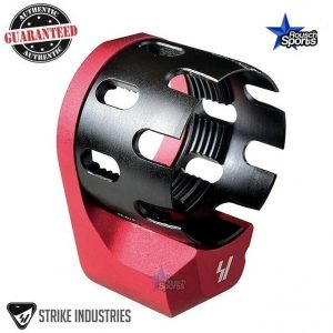 Strike Industries Enhanced Castle Nut and Extended QD End Plate RED .223 5.56 .308 RED AR 15 M4 M16 Best Discount Wholesale AR Parts and Accessories Austin Texas