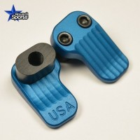 Extended Magazine Release Oversized Large Tactical Mag Button BLUE .223 5.56 .308  AR 15 M4 M16 Best Discount Wholesale AR Parts and Accessories Austin Texas  Timber Creek Outdoors AR EXTENDED MAGAZINE RELEASE BLUE 1
