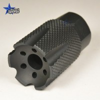 LCXS UL Low Concussion Linear Muzzle Brake Compensator Ultra LIght Compact Custom 2