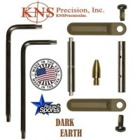 KNS Pins Anti Walk Pins Non Rotating Gen Northrop Side Plates Dark Earth .223 5.56 .308 AR 15 M4 M16 Best Discount Wholesale AR Parts and Accessories Austin Texas 1 .223 5.56 .308 AR 15 M4 M16 Best Discount Wholesale AR Parts and Accessories Austin Texas Stainless Steel KNS Anti Walk Pin Set Kit Dark Earth
