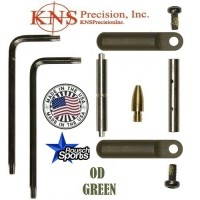 KNS Pins Anti Walk Pins Non Rotating Gen Northrop Side Plates OD Green .223 5.56 .308 AR 15 M4 M16 Best Discount Wholesale AR Parts and Accessories Austin Texas 1 .223 5.56 .308 AR 15 M4 M16 Best Discount Wholesale AR Parts and Accessories Austin Texas Stainless Steel KNS Anti Walk Pin Set Kit NORTHROP OD GReen 12