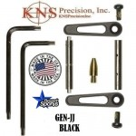 KNS Pins Anti-Walk Pins Non-Rotating Gen JJ BLACK Side Plates .154 Enhanced .223 5.56 .308 AR 15 M4 M16 Best Discount Wholesale AR Parts and Accessories Austin Texas