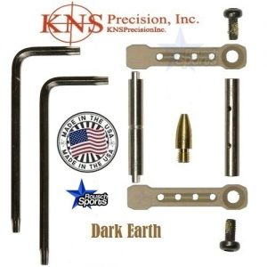 KNS Pins Anti Walk Pins Non Rotating Gen ST Spike's Side Plates Dark Earth Tan