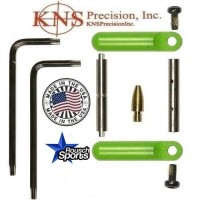 KNS Pins Anti Walk Pins Non Rotating Gen Northrop Side Plates Zombie Green .223 5.56 .308 AR 15 M4 M16 Best Discount Wholesale AR Parts and Accessories Austin Texas 1 .223 5.56 .308 AR 15 M4 M16 Best Discount Wholesale AR Parts and Accessories Austin Texas Stainless Steel KNS Anti walk pins Northrop Zombie Green
