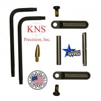 KNS Pins Anti-Walk Pins Non-Rotating Gen Northrop Side Plates BLACK .223 5.56 .308 AR 15 M4 M16 Best Discount Wholesale AR Parts and Accessories Austin Texas 1 .223 5.56 .308 AR 15 M4 M16 Best Discount Wholesale AR Parts and Accessories Austin Texas Stainless Steel 1