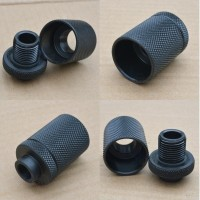 Solvent Trap Adapter with Percussion Shroud Thread Protector Pistol Rifle AR15 M16 M4  Ruger Walther Sig Sauer Austin Texas Best wholesale Discount Prices Austin Texas Rousch Sports 1