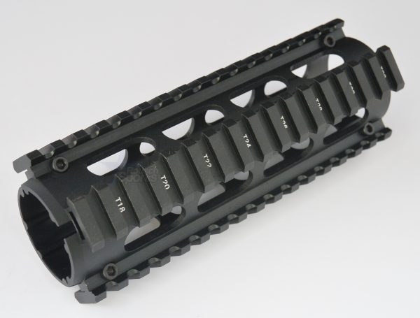 Carbine Length 2 Piece Drop in Quad Rail Handguard Forend - oval Hand Guard Best Discount Wholesale prices Austin Texas TX Rousch Sports