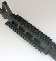 2 Piece Drop in Quad Rail Handguard Forend -Oval 10