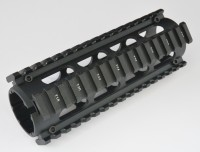 2 Piece Drop in Quad Rail Handguard Forend -Oval 2