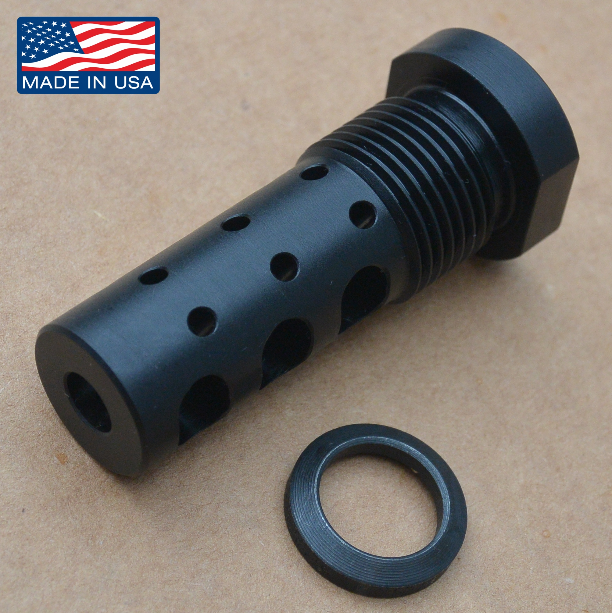GRBV2 GAS REDIRECTING MULTIPURPOSE MUZZLE BRAKE EXTERNAL THREAD ADAPTER  13/16″