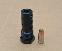 GRBV2 MULTIPURPOSE MUZZLE BRAKE EXTERNAL THREAD ADAPTER 9mm 8