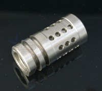 Stainless Steel A2 Flash Hider Fox Hole Half Cage  13