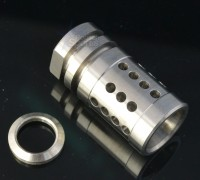 Stainless Steel A2 Flash Hider Fox Hole Half Cage  2