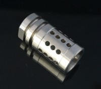 Stainless Steel A2 Flash Hider Fox Hole Half Cage  5