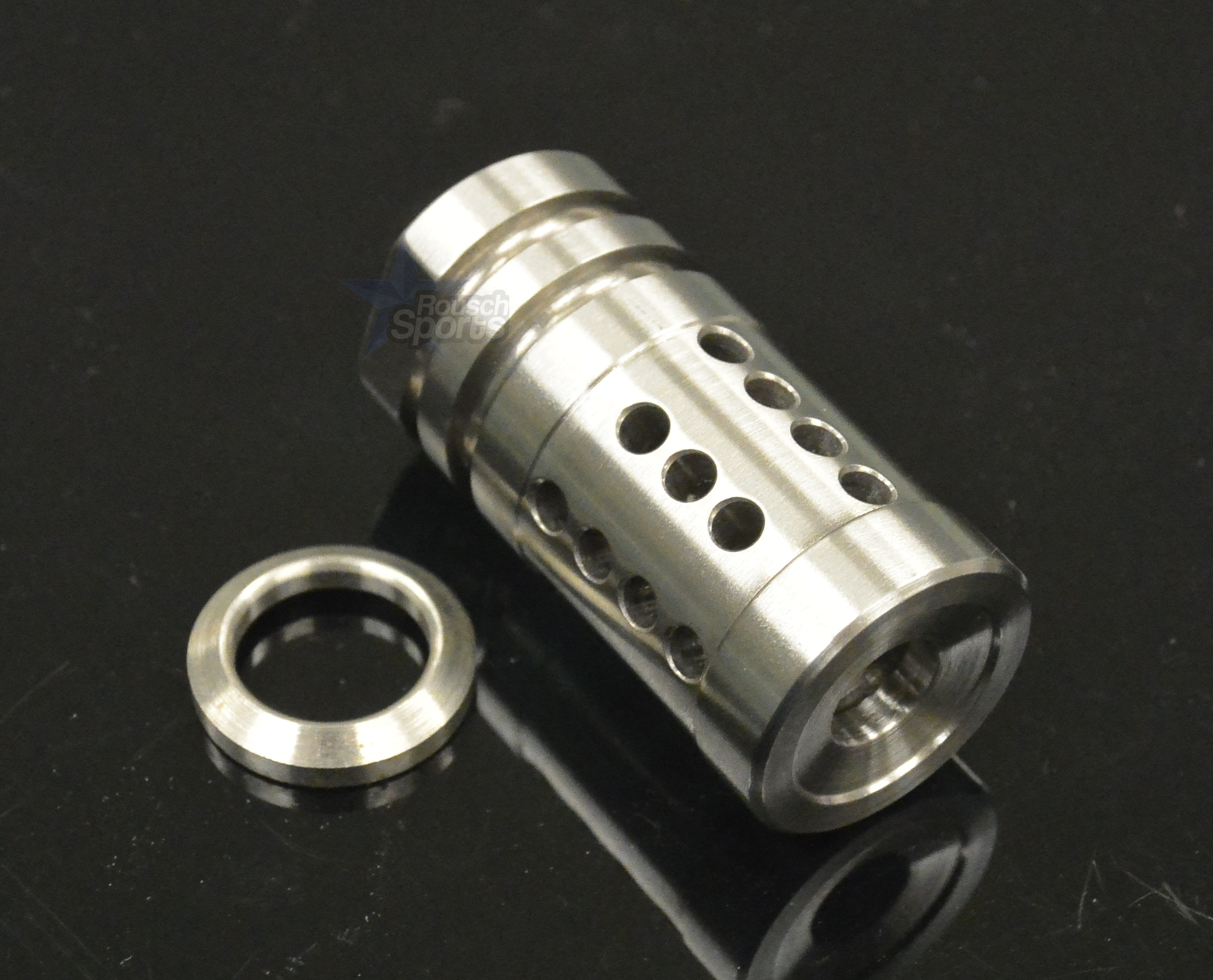 Fxh c shorty stainless steel muzzle brake compensator a