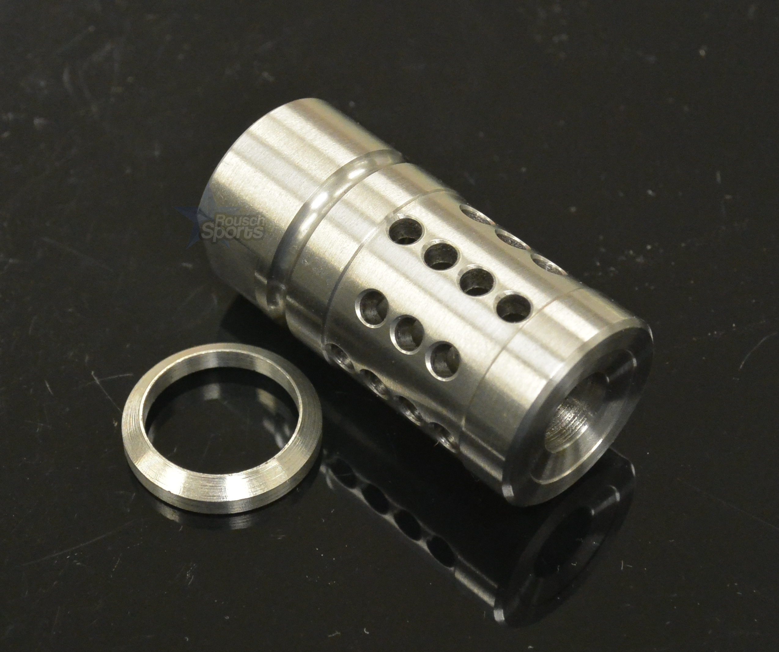 Fxc shorty stainless steel muzzle brake compensator a style