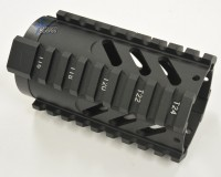 4 Inch Slotted Free Float Quad Rail Handguard Forend Pistol Length Austiin Texas AR15 AR15 M16 M4 Parts and Accessories Best Discount WHolesale Prices Rousch Sports 1
