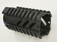4 Inch Slotted Free Float Quad Rail Handguard Forend Pistol Length Austiin Texas AR15 AR15 M16 M4 Parts and Accessories Best Discount WHolesale Prices Rousch Sports 3