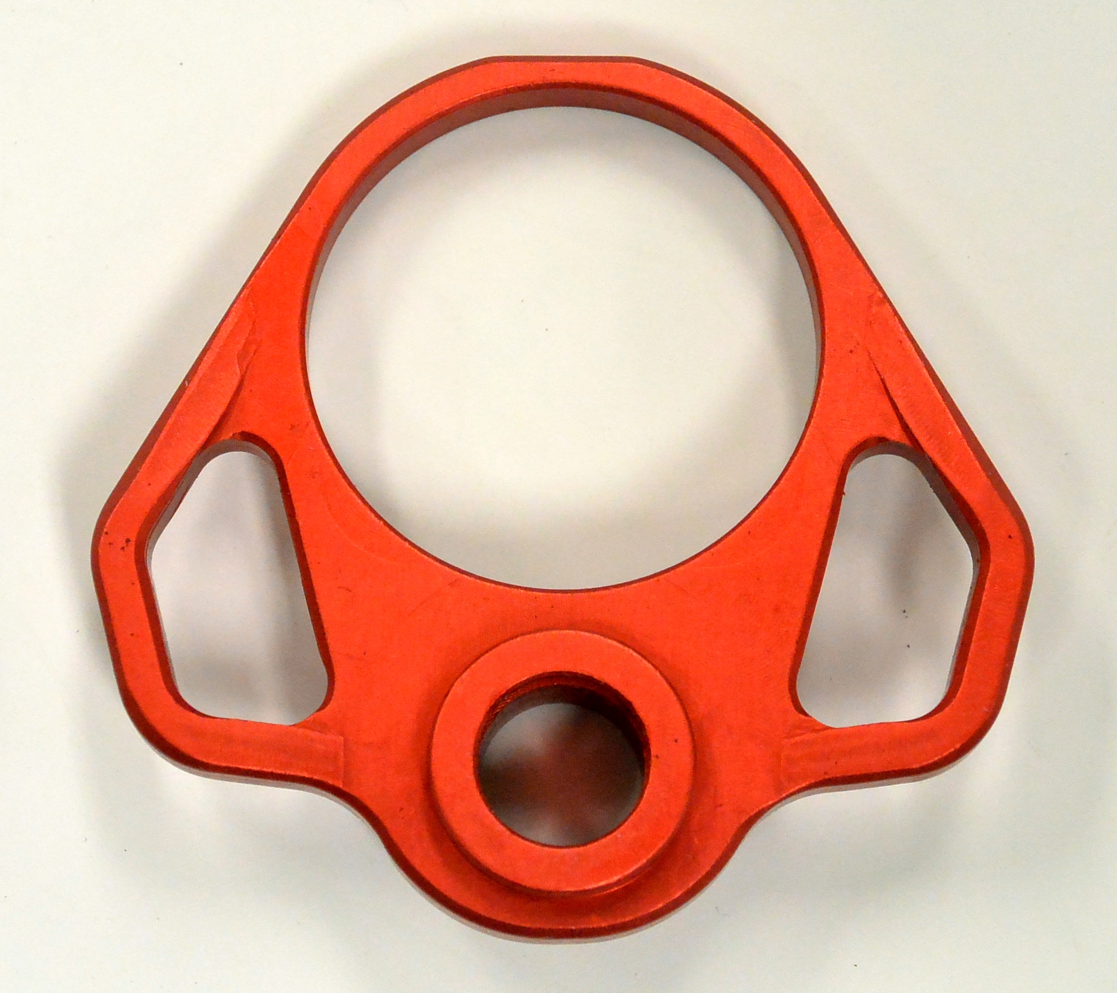 Ambi Sling Qd End Plate Anodized Red Odin Works Rousch