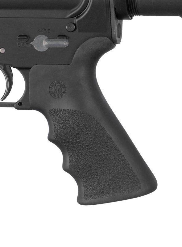 Hogue Ar15 M16 Rubber Grip Beavertail Finger Grooves Black