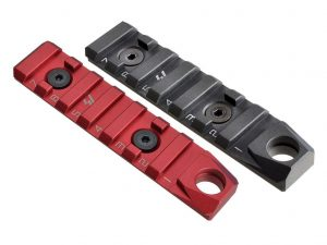 Link Rail Section 7 Slots QD Featured Strike Industries Anodized Red Black AR 15 M4 M16 Best Discount Wholesale AR Parts and Accessories Austin Texas USA