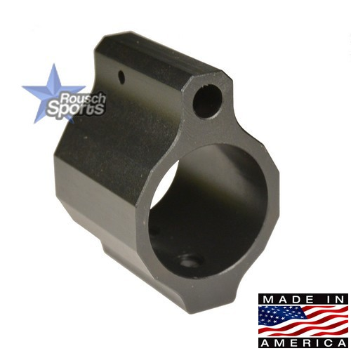 Rousch Premium Low Profile Micro Gas Block Melonite Black Nitride Gas Block Precision.750 Black Nitride .223 5.56 .308 AR 15 M4 M16 Best Discount Wholesale AR Parts and Accessories Austin Texas