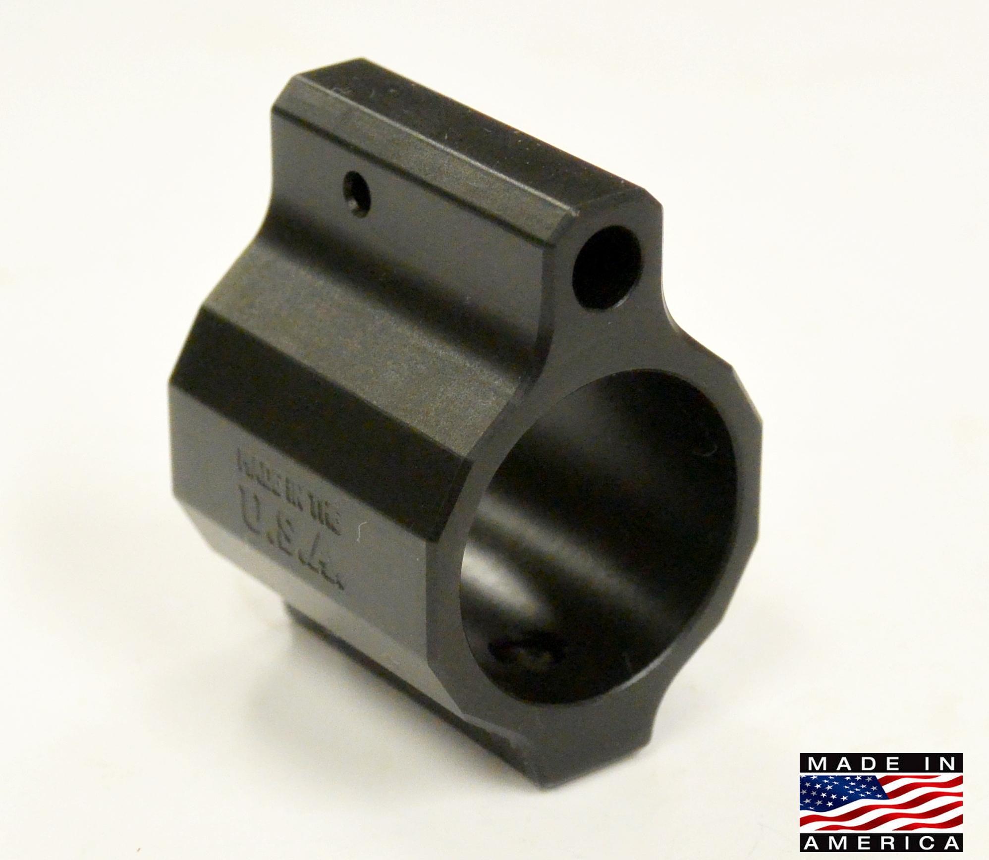 Rousch Premium Low Profile Micro Gas Block Melonite Black Nitride .750 high precision .223 5.56 308 LR308 Ar 10 AR 15 M4 M16 Best Discount Wholesale AR Parts and Accessories Austin Texas USA