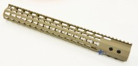 FDE ULS V7B Keymod Free Float HandGuard Forend 15 Inch AR 15 AR 10 Ambidextrous Speed Safety .223 5.56 AR 15 M4 M16 Best Discount Wholesale AR Parts and Accessories Austin Texas USA 3