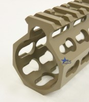 FDE ULS V7B Keymod Free Float HandGuard Forend 15 Inch AR 15 AR 10 Ambidextrous Speed Safety .223 5.56 AR 15 M4 M16 Best Discount Wholesale AR Parts and Accessories Austin Texas USA 6