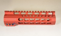 7 Inch Red Anodized Keymod Free Float HandGuard Forend with Stars RED Anodized AR 15 M16 M4 Best Austin Discount AR Parts and accessories Austin Texas Build your custom AR today 3