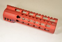 7 Inch Red Anodized Keymod Free Float HandGuard Forend with Stars RED Anodized AR 15 M16 M4 Best Austin Discount AR Parts and accessories Austin Texas Build your custom AR today 4