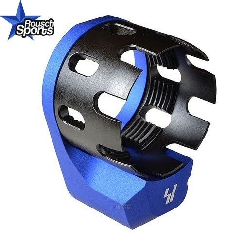 Strike Industries Enhanced Castle Nut and Extended QD End Plate BLUE .223 5.56 .308 AR 15 M4 M16 Best Discount Wholesale AR Parts and Accessories Austin Texas