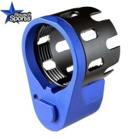 Strike Industries Enhanced Castle Nut and Extended QD End Plate BLUE .223 5.56 .308  AR 15 M4 M16 Best Discount Wholesale AR Parts and Accessories Austin Texas  Strike Industries AR Enhanced Castle Nut Extended End Plate BLUE 2