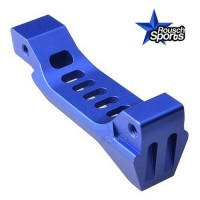 Strike Industries FANG Billet Aluminum Trigger Guard Skeletonized Blue .223 5.56 .308  AR 15 M4 M16 Best Discount Wholesale AR Parts and Accessories Austin Texas  Strike Industries Fang Billet Aluminum Trigger Guard BLUE 2