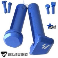 Strike Industries ULTRA LIGHT Enhanced Extended Take Down Front and Rear Pins BLUE .223 5.56 .308  AR 15 M4 M16 Best Discount Wholesale AR Parts and Accessories Austin Texas SI Ultra Light Pivot Takedown Pins BLUE 1