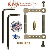 KNS Pins Anti Walk Pins Non Rotating Gen ST Spike's Side Plates Dark Earth Tan KNS Anti Walk Pins Gen ST Dark Earth 1WM