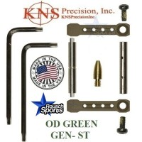 KNS Pins Anti Walk Pins Non Rotating Gen ST Spike's Side Plates OD GREEN .223 5.56 .308 AR 15 M4 M16 Best Discount Wholesale AR Parts and Accessories Austin Texas 1 .223 5.56 .308 AR 15 M4 M16 Best Discount Wholesale AR Parts and Accessories Austin Texas Stainless Steel KNS Anti Walk Pins Gen ST OD GREEN 1