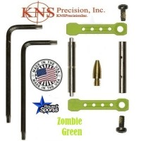 KNS Pins Anti Walk Pins Non Rotating Gen ST Spike's Side Plates Zombie Green .223 5.56 .308 AR 15 M4 M16 Best Discount Wholesale AR Parts and Accessories Austin Texas 1 .223 5.56 .308 AR 15 M4 M16 Best Discount Wholesale AR Parts and Accessories Austin Texas Stainless Steel KNS Anti Walk Pins Gen ST Zombie Green 1