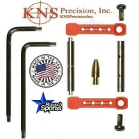KNS Pins Anti Walk Pins Non Rotating Gen ST Spike's Side Plates RED .223 5.56 .308 AR 15 M4 M16 Best Discount Wholesale AR Parts and Accessories Austin Texas 1 .223 5.56 .308 AR 15 M4 M16 Best Discount Wholesale AR Parts and Accessories Austin Texas Stainless Steel KNS Anti Walk Pins Kit Red Blood
