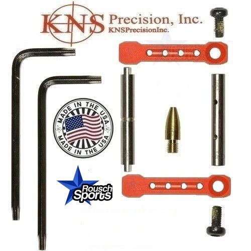 KNS Pins Anti Walk Pins Non Rotating Gen ST Spike's Side Plates RED .223 5.56 .308 AR 15 M4 M16 Best Discount Wholesale AR Parts and Accessories Austin Texas 1 .223 5.56 .308 AR 15 M4 M16 Best Discount Wholesale AR Parts and Accessories Austin Texas Stainless Steel